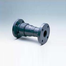 旭有機材工業 ボールチェックバルブ U-PVC製 フランジ形 50A VBCZZUEF050