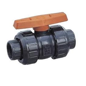エスロン ボールバルブ TS式 PVC製 Oリング材質:FKM 65A BVSV65