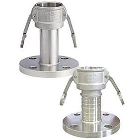 フィットトヨックス カムロックカプラー フランジ付(JIS10kg) アルミ合金製 3/4インチ 633-LBS-3/4A