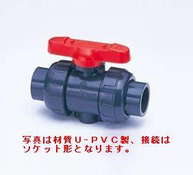 旭有機材工業 ボールバルブ21型 C-PVC製 フランジ形 65A V21LVCEF065