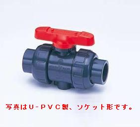 旭有機材工業 ボールバルブ21型 U-PVC製 フランジ形 80A V21LVUVF0801