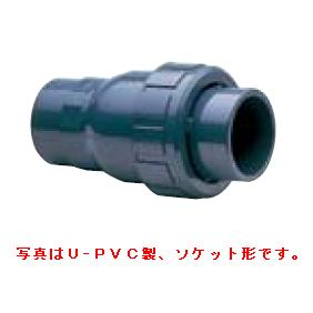 旭有機材工業 ボールチェックバルブ U-PVC製 ソケット形 50A VBCZZUVSJ0501