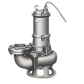 ツルミポンプ ステンレス製水中カッタポンプ ベンド仕様 CQ型 100CQ42.2