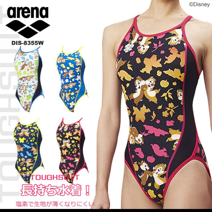 レディース 競泳練習用水着 arena アリーナ ディズニー DIS-8355W