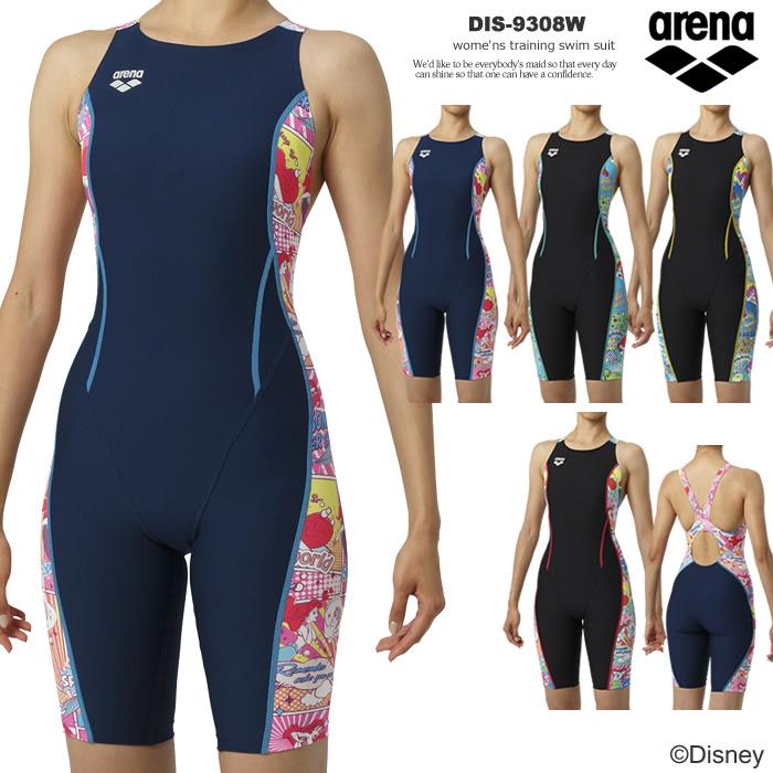 レディース 競泳練習用水着 arena アリーナ ディズニー DIS-9308W