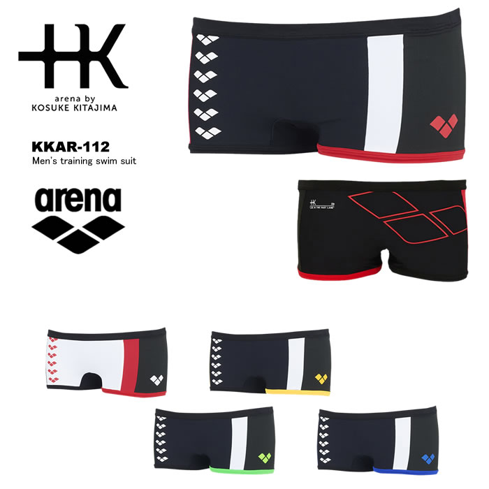 +K arena by 新色追加 KOSUKE KITAJIMA世界の五大陸をイメージ KKAR-112 競泳練習用水着 メンズボックス 『4年保証』 アリーナ