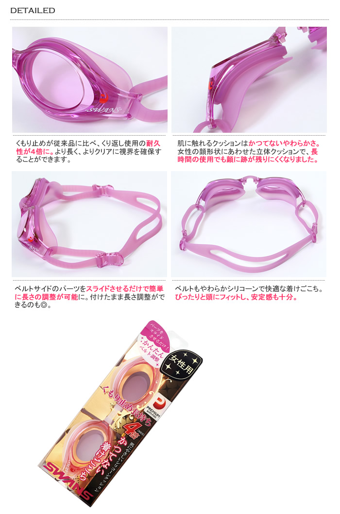 Fitness goggles <SWANS (swans) for women> SW-30[fs01gm]