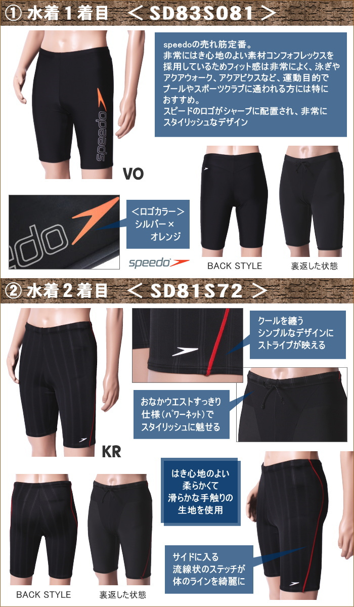 A men's fitness swimsuit (two) and four points of set natatoria of the accessory