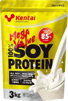 健康体力研究所kentai【20%OFF】メガバリュー 100%ソイプロテイン プレーンタイプ 3kg K1300