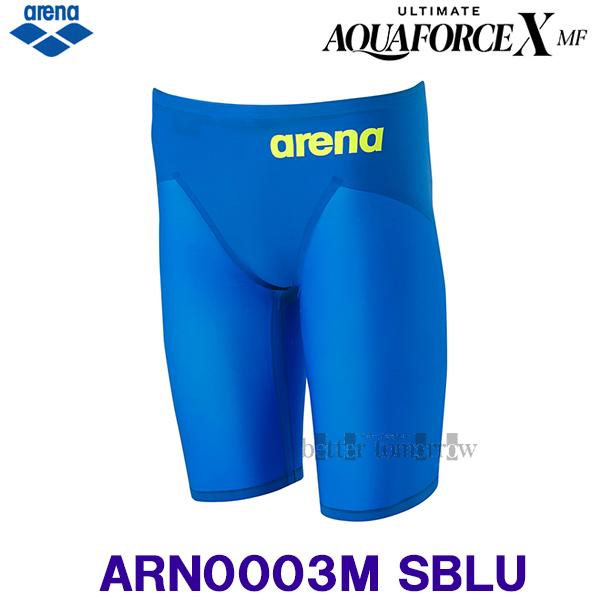 アリーナ 競泳水着 メンズ Sサイズ ARN0003M Sブルー×イエロー SBLU アルティメット・アクアフォース エックス MF モーションフリー/2020FW