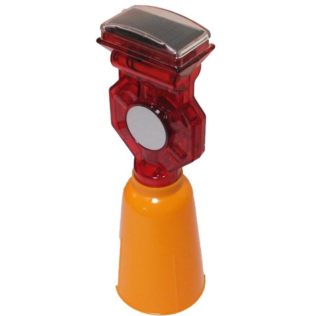 工事現場の安全に 推奨 ソーラー充電式 タイプ 工事灯 作業灯赤回転点灯 はかま 赤LED 購買 付 工事灯カラーコーンカバー