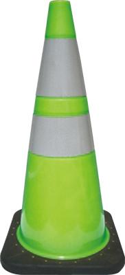 【送料無料】レボコーン(ライムグリーン) 蛍光 反射 つくし工房 5306-Lサイズ H700質量 約3.5kg【メーカー直送品/代引き不可/時間指定不可/】
