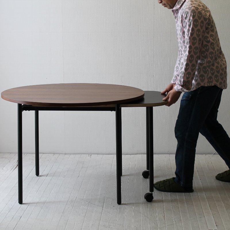 画期的なスタイルの伸長式円テーブル NRT-622DT-100-150