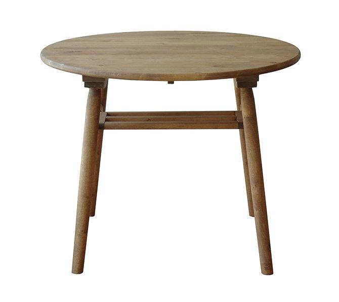 北欧家具 ダイニングテーブル 幅90cm テーブル 丸型 90cm 丸 円形 木製 天然木 北欧 収納 食卓 ナチュラル モダン 北欧 無垢 レトロ バーチ材 NRT-90DT-6310BA