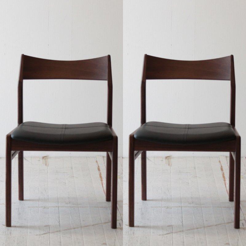 北欧家具 ダイニングチェア【2脚セット】 無垢 天然木 木製 食卓椅子 いす 木脚 天然木 クッション 椅子 イス NRT-C-656-2PSET