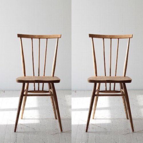【2脚セット】北欧家具 チェア カフェ カフェスタイルのヴィンテージ風チェア2脚セット アッシュ材 6610NA