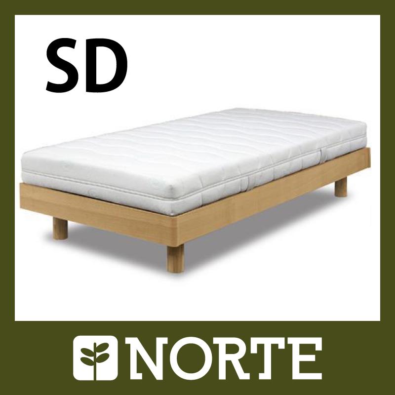 すのこベッド 木製ベッド セミダブル セミダブルサイズ ベッド アッシュ材 無垢【天然木】【北欧】【通気性抜群】NRT-BD-005SD