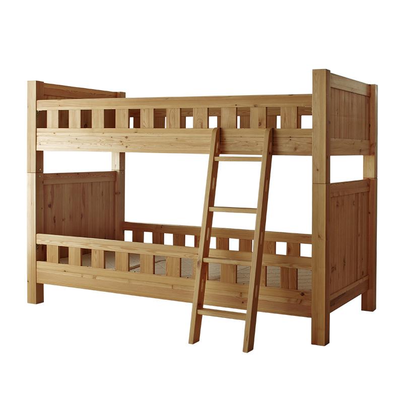 パイン材オイル仕上げの2段ベッド シングルベッドにもできます。NRT-BED-bunk bed