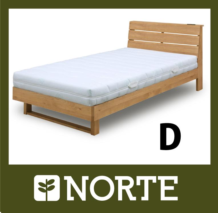 すのこ ベッド アルダー材 清潔で軽く、無駄がない美しいダブルベッド NRT-BED-6255D