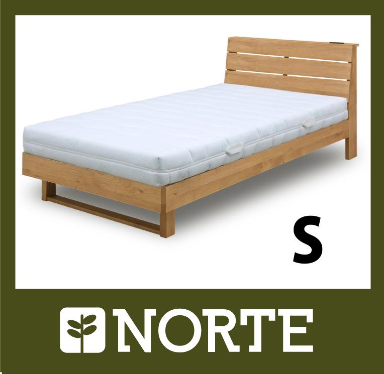 すのこ ベッド アルダー材 清潔で軽く、無駄がない美しいシングルベッド NRT-BED-6255S