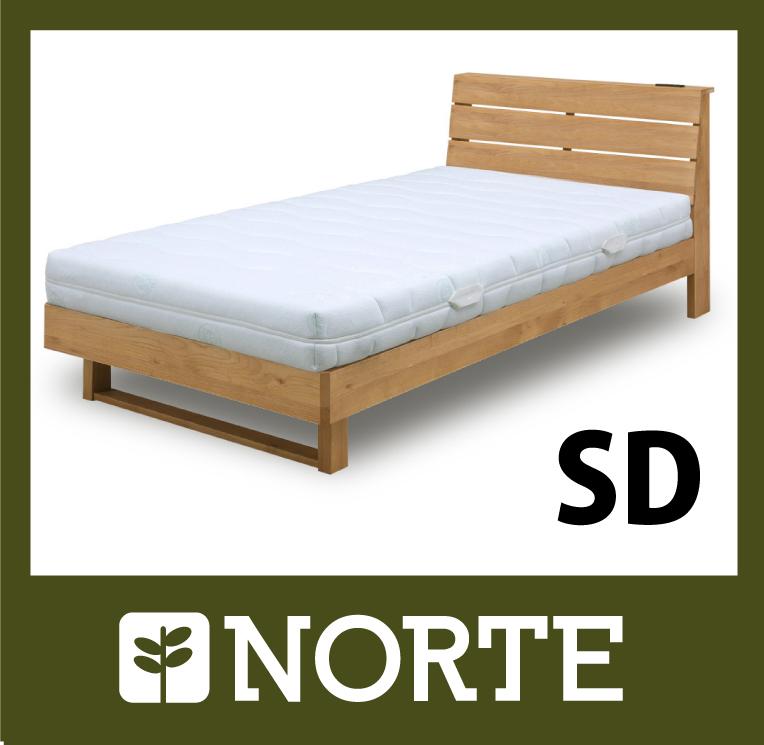 すのこ ベッド アルダー材 清潔で軽く、無駄がない美しいセミダブルベッド NRT-BED-6255SD