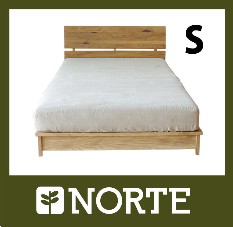 すのこ ベッド オーク材 清潔で軽く、無駄がない美しいシングルベッド NRT-BED-6590S