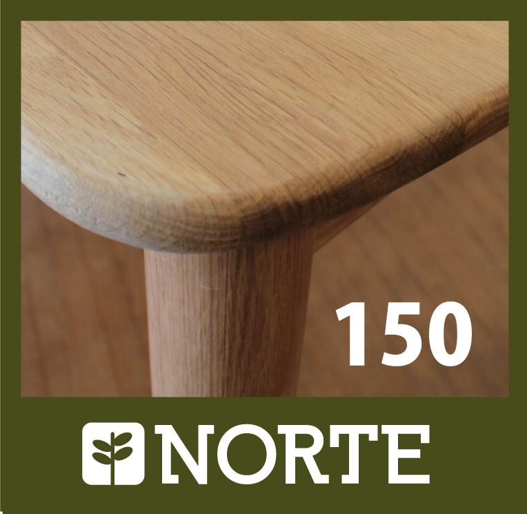 北欧家具 ダイニングテーブル 無垢材 無駄の無いシンプルで丸く優しいデザインのテーブル【150cm】訳ありアウトレット品
