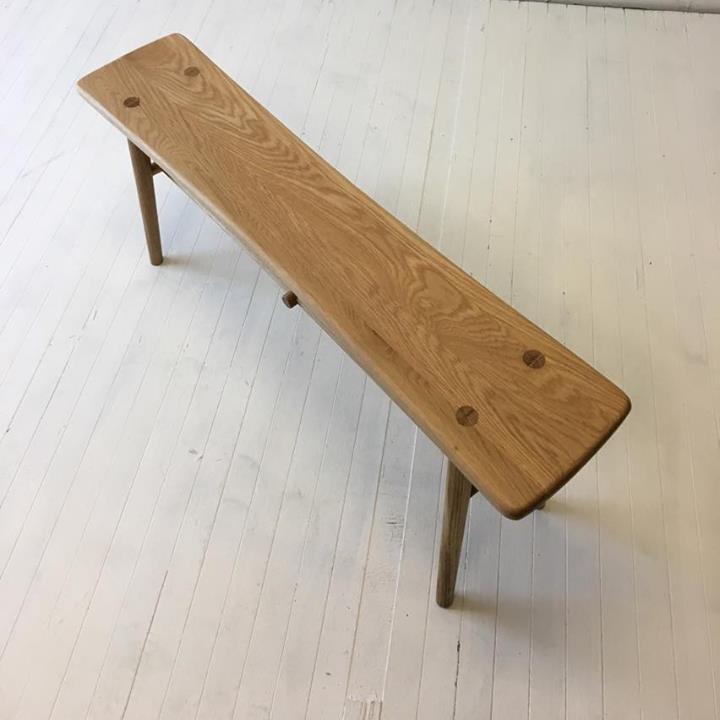 北欧家具 ダイニングベンチ 可愛らしいベンチ NRT-B-750 オーク材