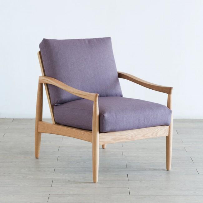 北欧家具  ダイニングソファ 無垢材 コンパクトで小さなソファをお好みの方におすすめな一人掛けソファ