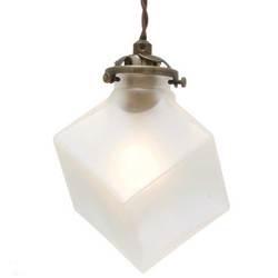 102 !超美品再入荷品質至上! キュービックフォルムのガラスセードがレトロでオシャレなランプ インターフォルム INTERFORM クアドラト LT-2655 ご予約品 Quadrato LED電球 FR