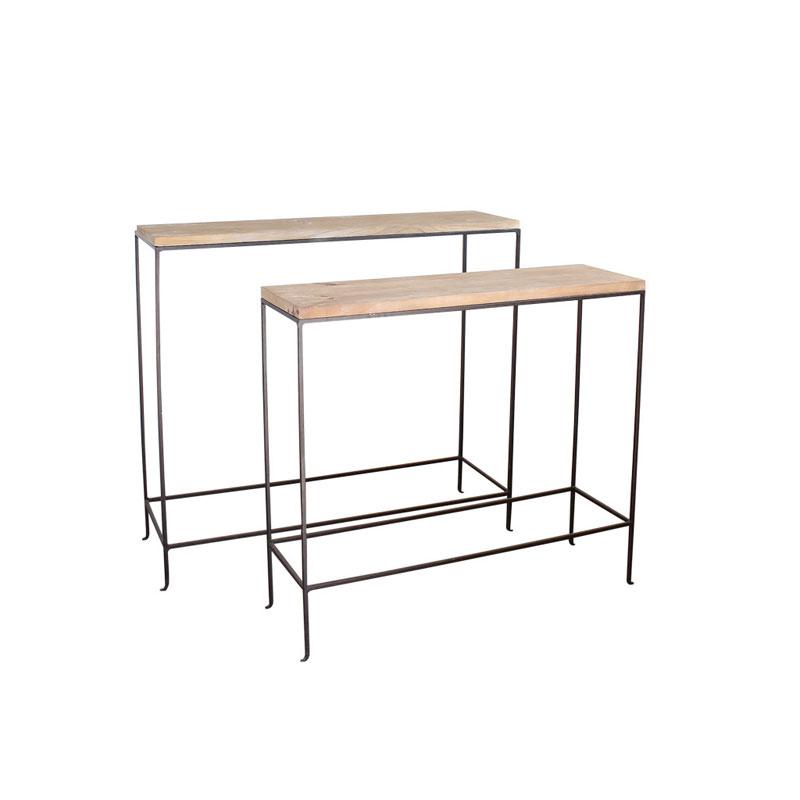 スパイス コンソールテーブル 2サイズセット/ジョセフアイアン DTFF6289【2個セット】