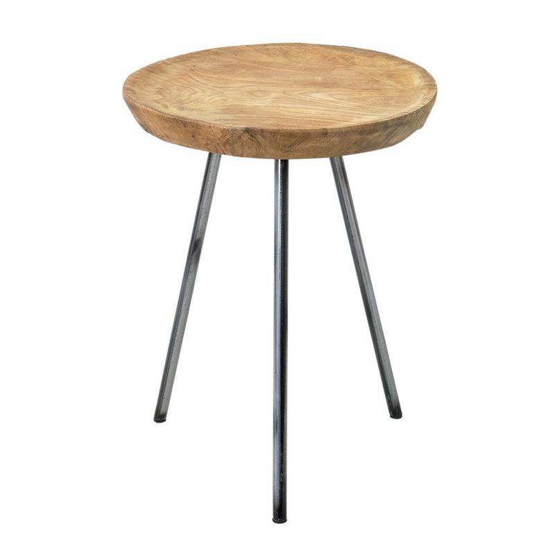 スパイス モデスト ウッドラウンドディスプレイテーブル