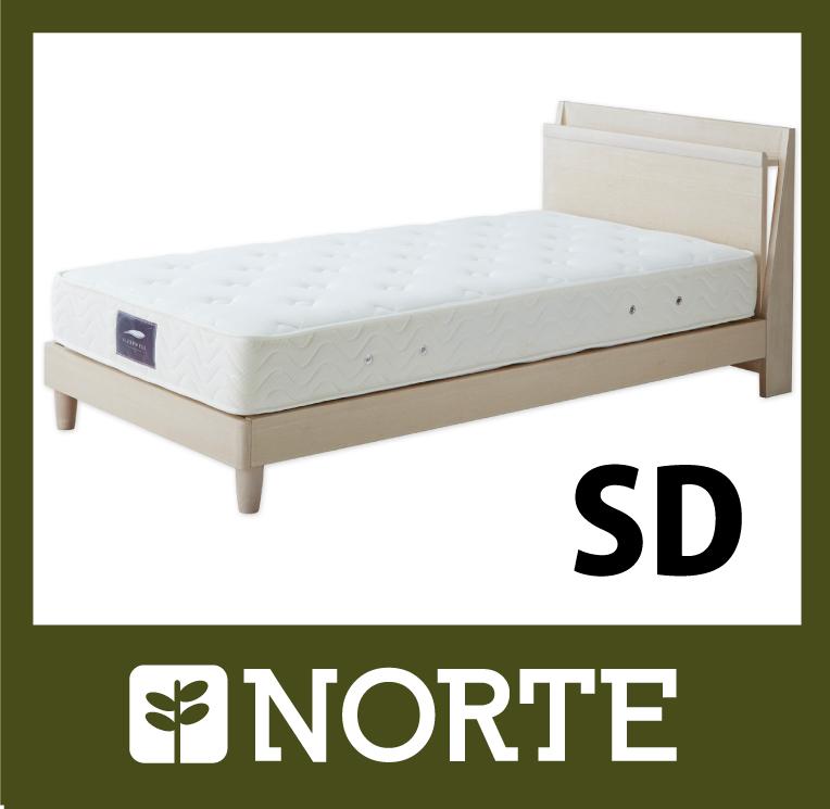 北欧家具 ベッド オーク材のシングルベッド NRT-BED-2201-SD