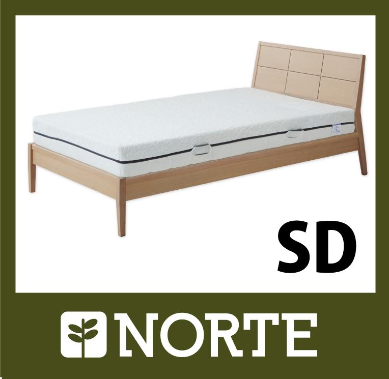 すのこ ベッド オーク材 清潔で軽く、無駄がない美しいセミダブルベッド NRT-BED-3550SD