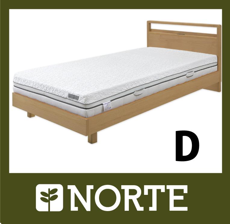 すのこ ベッド アルダー材 清潔で軽く、無駄がない美しいダブルベッド NRT-BED-7255D