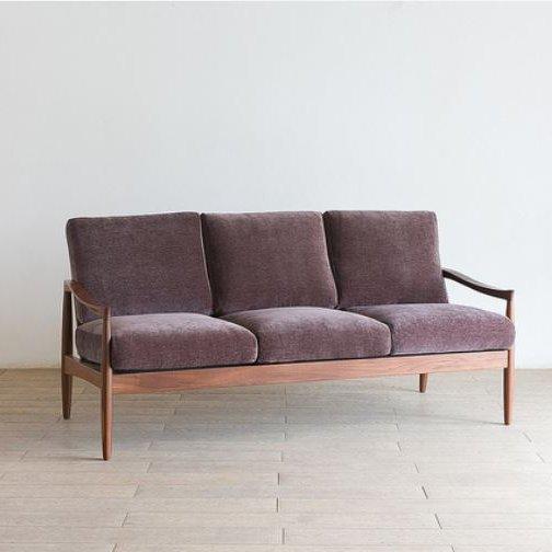 北欧家具 ダイニングソファ 3p コンパクトでシンプルなつくりのスタイリッシュなソファ
