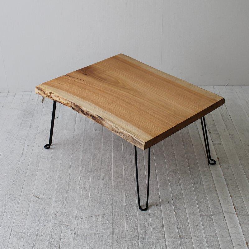 一点モノ 桜のフォールディングテーブル NRT-FT-009sakura 一枚板テーブル