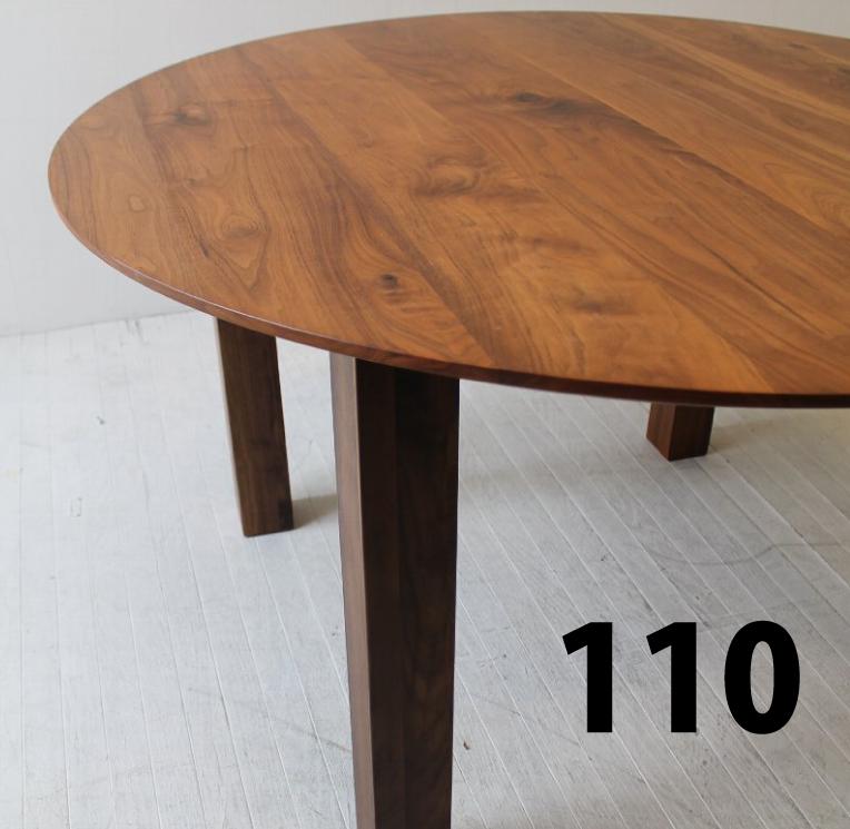 110 カスタム円テーブル オーダーテーブル ホワイトオーク/ウォールナット/ハードメープル/ブラックチェリー