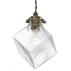 102 キュービックフォルムのガラスセードがレトロでオシャレなランプ クアドラト 税込 数量限定 Quadrato BU LT-2655 LED電球 気泡ガラス