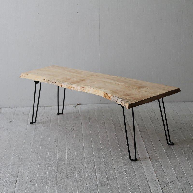一点モノ トチのフォールディングテーブル CNT-FT-008tochi 一枚板テーブル