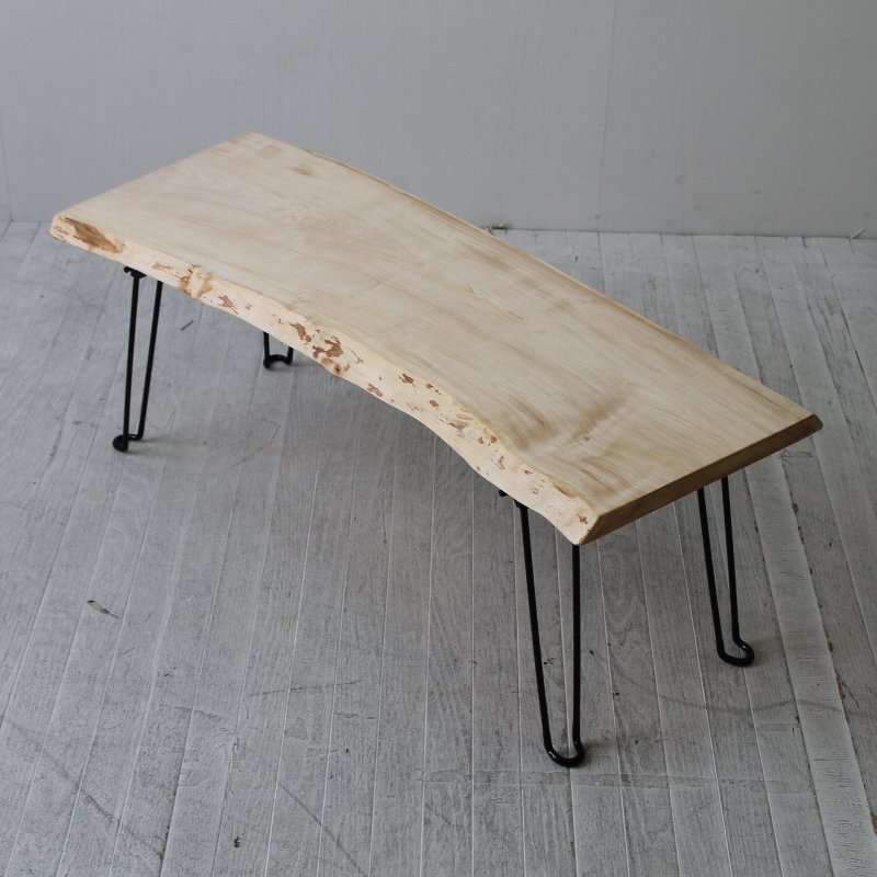 一点モノ トチのフォールディングテーブル CNT-FT-005tochi 一枚板テーブル