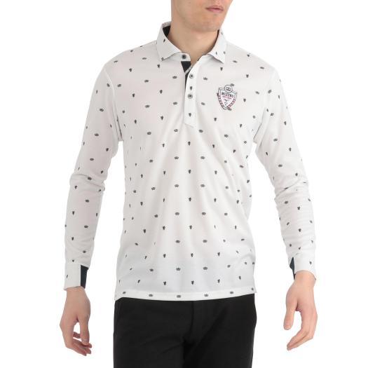 [ミズノ]プリントシャツカラー長袖シャツ[メンズ]