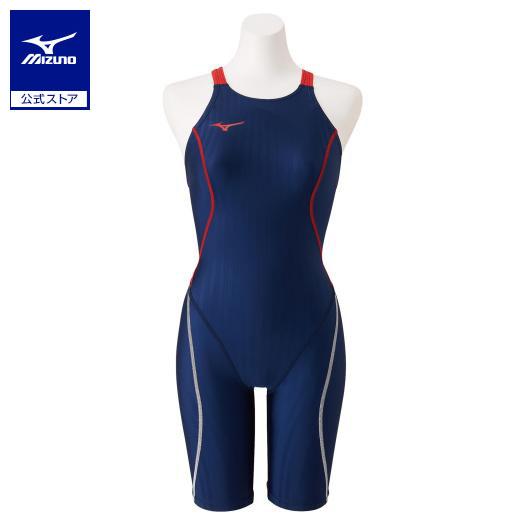 [ミズノ]競泳用ハーフスーツ(レースオープンバック)[ジュニア]