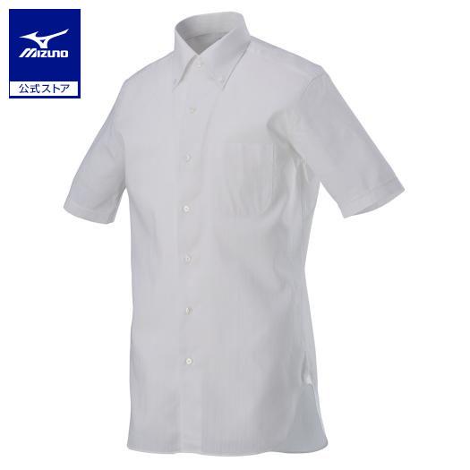 [ミズノ]アイスタッチ半袖ワイシャツ/リネンドビー[メンズ]