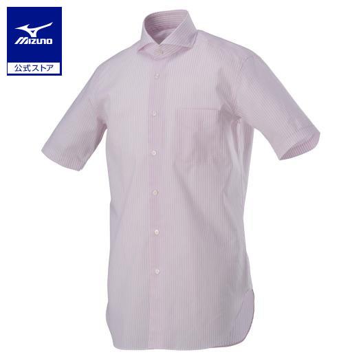 [ミズノ]アイスタッチ半袖ワイシャツ/リネンカッタウェイ[メンズ]