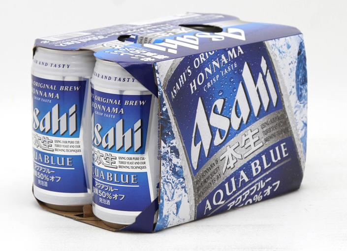 アサヒ 本生 アクアブルー350ML6缶パック 送料無料/新品 超激安