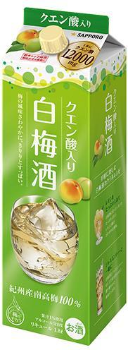 【サッポロ】白梅酒 1.8L パック