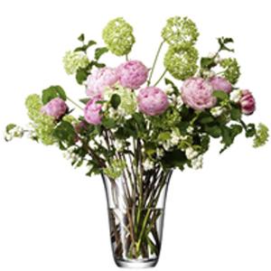 LSA FLOWER OPEN BOUQUET VASE ベース H230mmクリアー<花瓶>