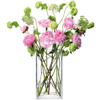 LSA FLOWER RECTANGULAR BUNCH VASE ベース H320mmクリアー<花瓶>