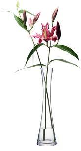LSA FLOWER TALLSINGLE STEM VASE ベース H500mmクリアー<花瓶>